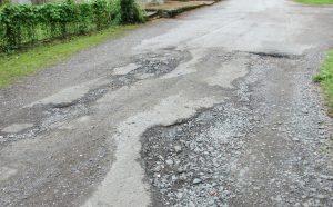 accidentes trafico mal estado de la vía
